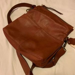 Margot Mickey Hobo Bag in Brown Leather